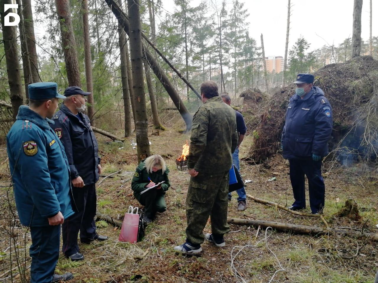 Спасатели Балашихи патрулируют лесные массивы в усиленном режиме