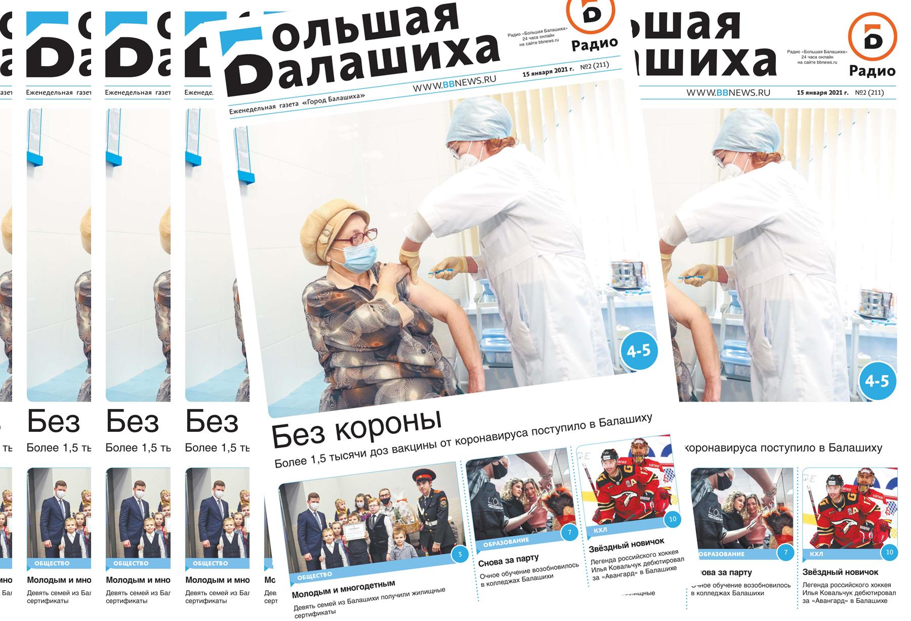 Вышла газета «Город Балашиха» №2 (211)