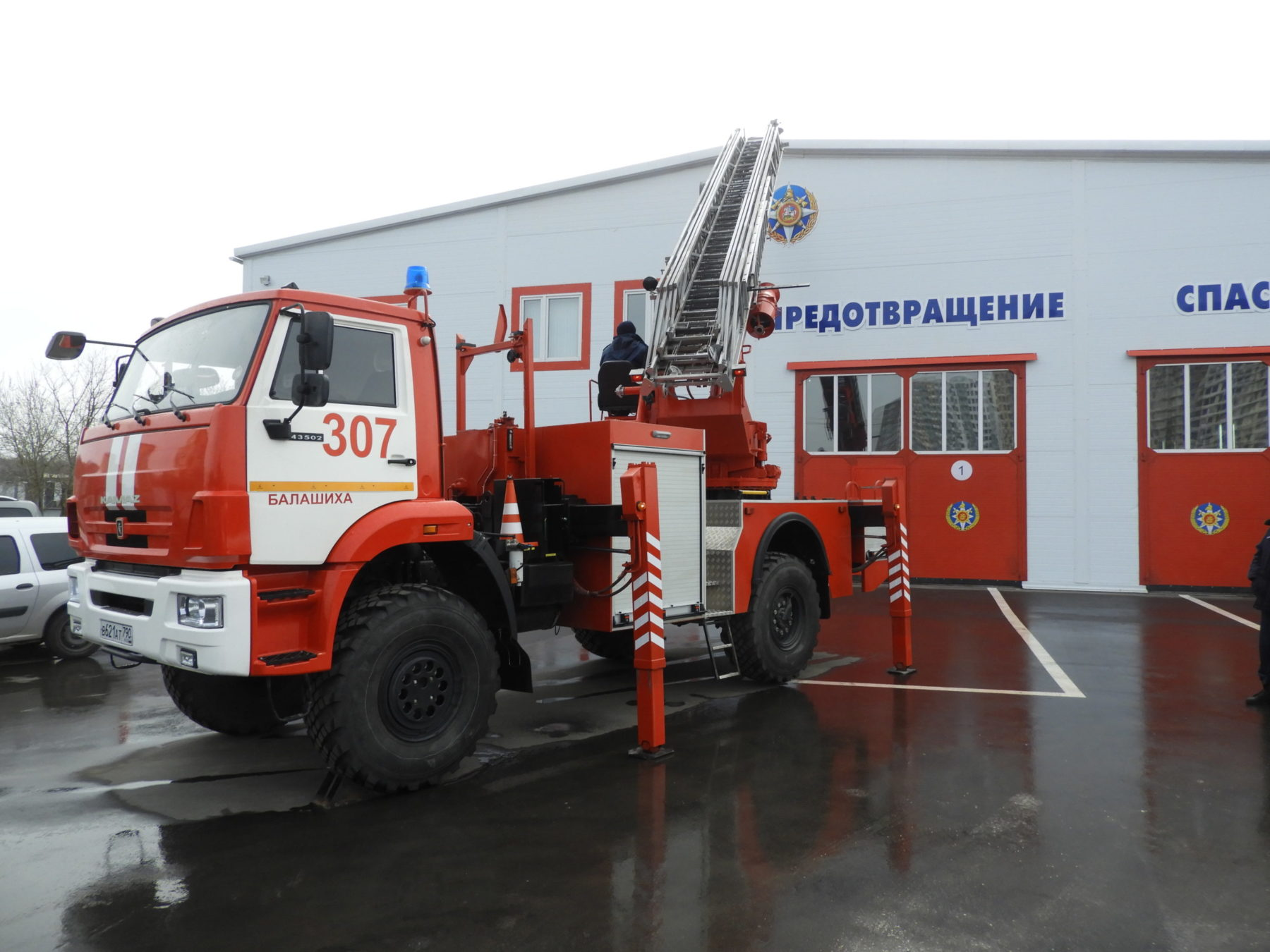Водители пожарных машин прошли аттестацию в Балашихе